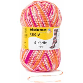 Regia 4-fädig Color 100 g Nr. 7203 papagei color